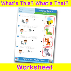 Whats this whats that worksheet matching time 5