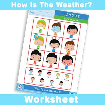 How Is The Weather? Worksheet - BINGO 2