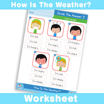 How Is The Weather? Worksheet - Circle The Answer 3
