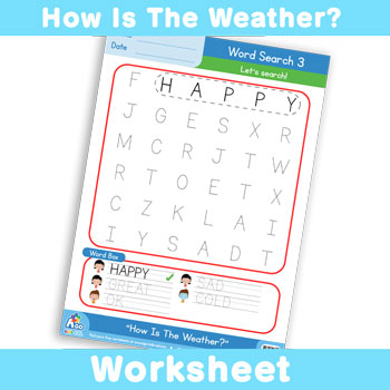 How Is The Weather? Worksheet - Word Search 3