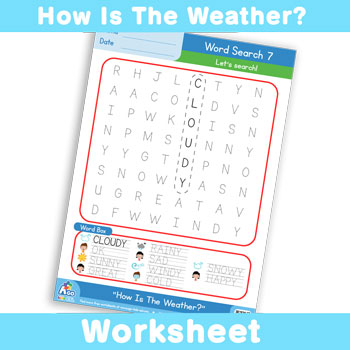 How Is The Weather? Worksheet - Word Search 7