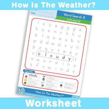 How Is The Weather? Worksheet - Word Search 8