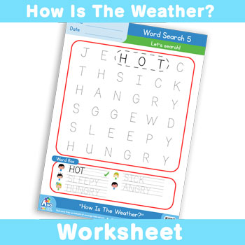 How Is The Weather? Worksheet - Word Search 5