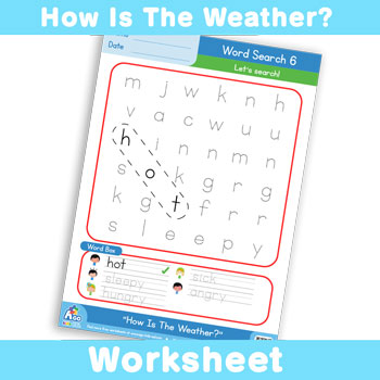 How Is The Weather? Worksheet - Word Search 6