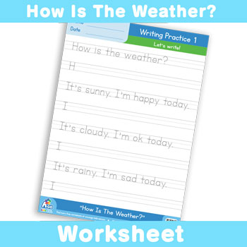 How Is The Weather? Worksheet - Writing Time 1