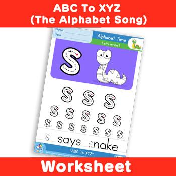 ABC To XYZ (The Alphabet Song) - Lowercase s
