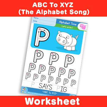 ABC To XYZ (The Alphabet Song) - Uppercase P