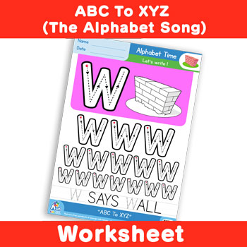 ABC To XYZ (The Alphabet Song) - Uppercase W