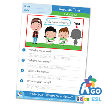 Hello What's Your Name ESL answer
