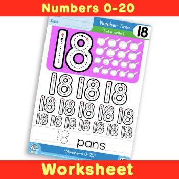 Free Number Writing Practice Worksheet 19