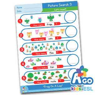 fun worksheets and games for frog on a log