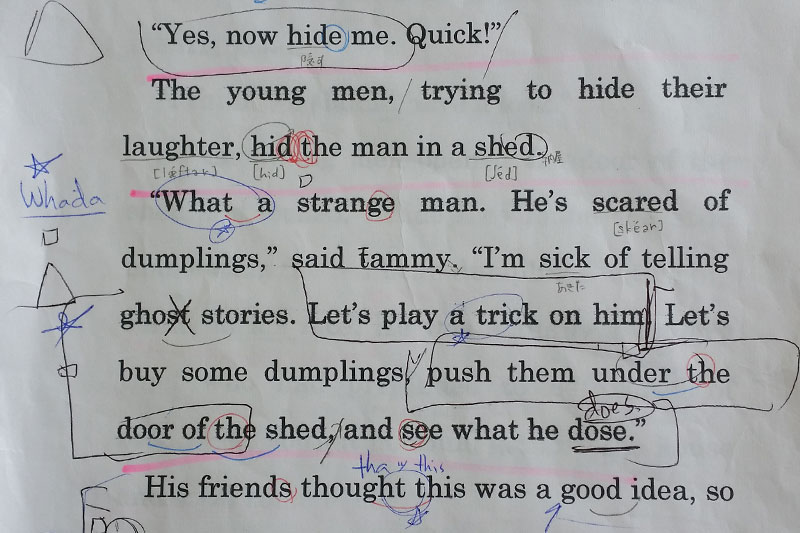 sample of a student's copy of speech