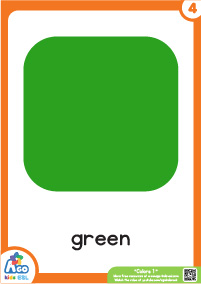 Colors Educational Flashcard Set - Green