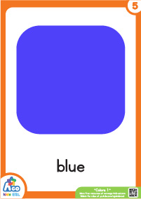 Colors Educational Flashcard Set - Blue