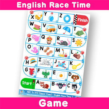 English Race Time -Alphabet ABC to XYZ