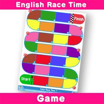 English-Race-Time Game - Colors (Primary and Secondary)