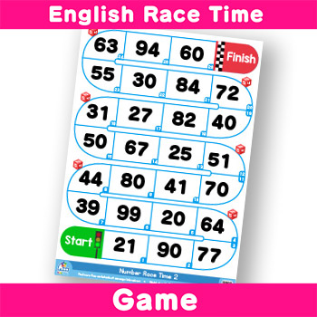 English-Race-Time---Numbers 20-99