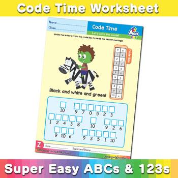 Alphabet ABC decoder worksheet z