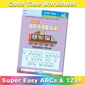 Alphabet ABC decoder worksheet u