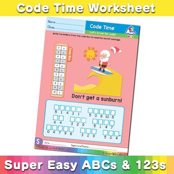 Alphabet ABC decoder worksheet s2