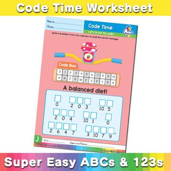 Alphabet ABC decoder worksheet j