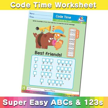 Alphabet ABC decoder worksheet h
