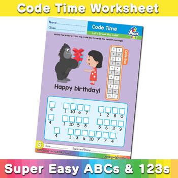 Alphabet ABC decoder worksheet g