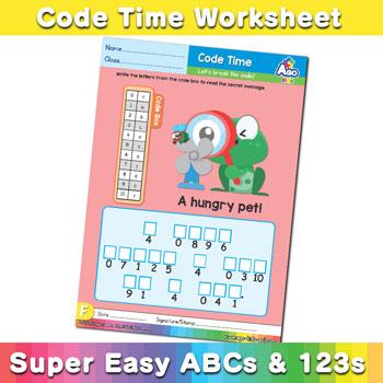 abc alphabet decoder worksheet F