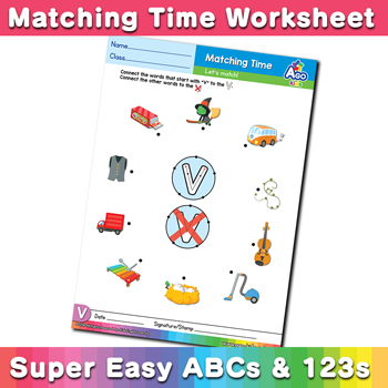 Words starting with v simple phonics matching time free esl words starting with v simple phonics matching time free esl worksheet ibookread Download