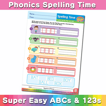Phonics Spelling Worksheet Letter B