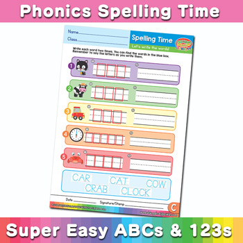 Phonics Spelling Worksheet Letter C