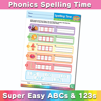 Phonics Spelling Worksheet Letter L