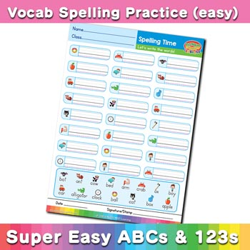 free esl spelling worksheet a b c