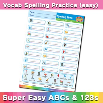 free esl spelling worksheet u v w