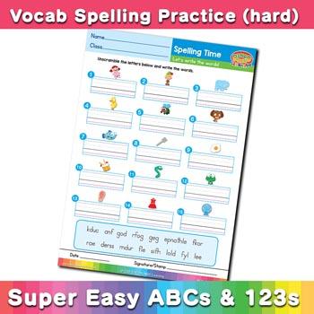 free esl spelling worksheet d e f