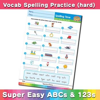 free esl spelling worksheet r s t