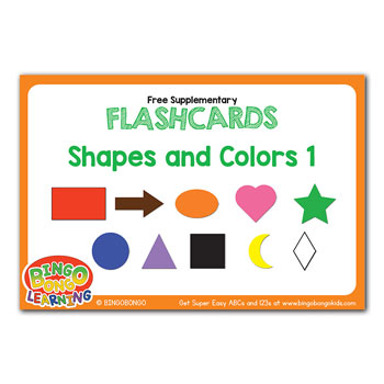 free esl flashcard shapes and colors