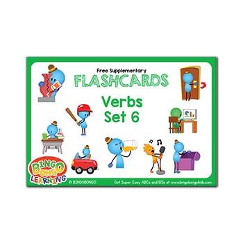 Free ESL flashcards verbs
