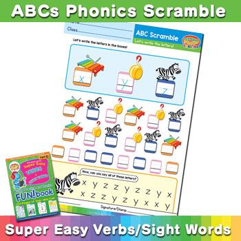 ABC Phonics Scramble Worksheet (Lowercase XYZ) - BINGOBONGO
