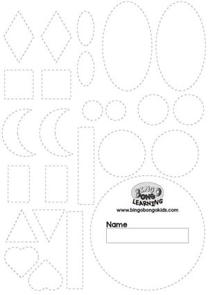 Free Shapes Outlines Template