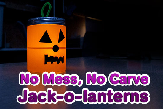 no mess no carve jack-o'-lantern