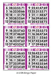 how to play bingo