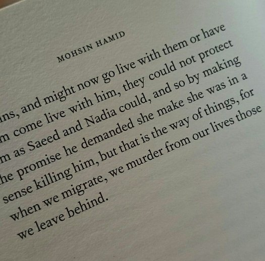 we murder from our lives those we leave behind