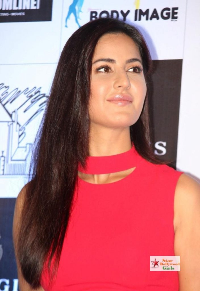 Katrina Kaif Showcasing Her Sexy Long Legs In a Red Short Dress At Yasmin Karachiwals Sculpt and Shape The Pilates Way Book Launch In Palladium10