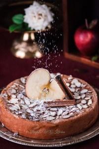 Eggless Cinnamon Apple Cake