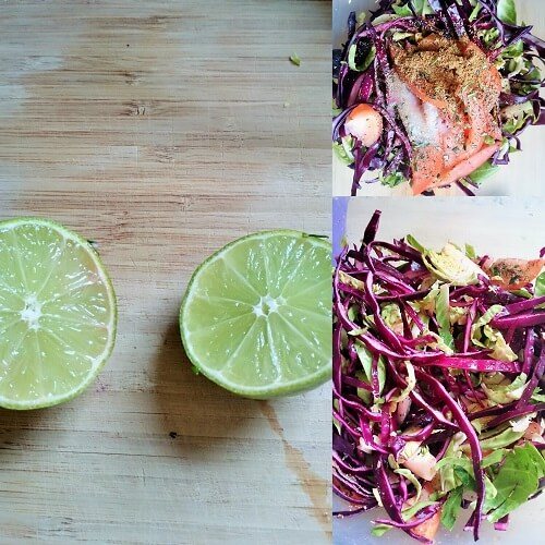 Brussel Sprout Red Cabbage Salad