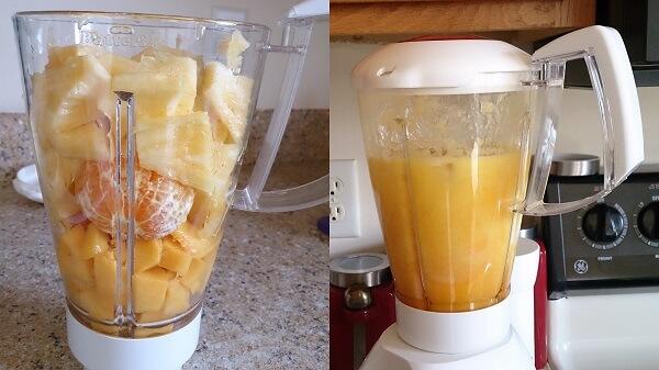 Pineapple Mango Orange Smoothie 1