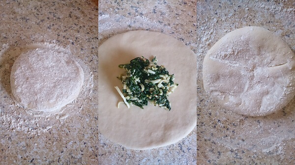Stuffed Cheesy Spinach Naan 6