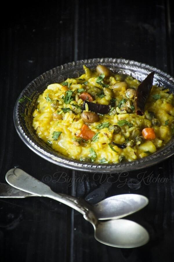 Vaghareli Khichdi  Binjals VEG Kitchen