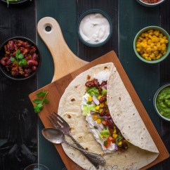 Kitchen Server Trash Bin Vegetarian Burrito - Binjal's Veg